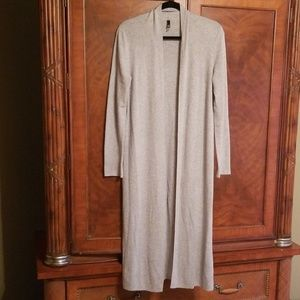 The Limited ribbed heather grey long sweater coat